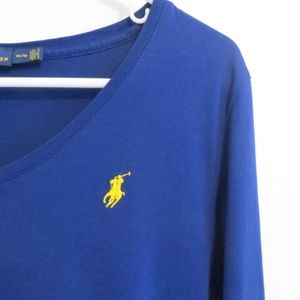 Polo Ralph Lauren V Neck Brilliant Blue: B30